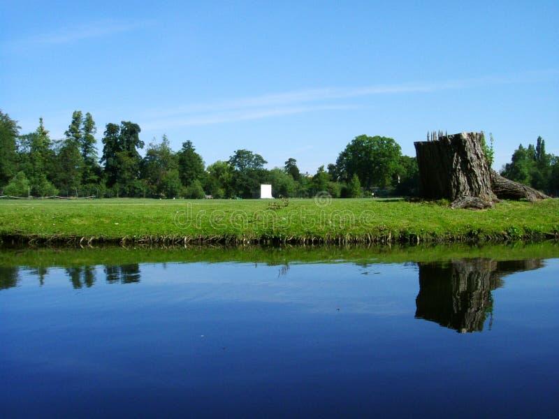 Reflexão no rio fotografia de stock