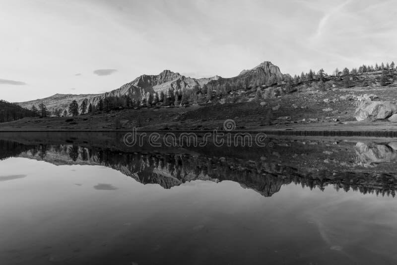 Reflexão preto e branco imagens de stock