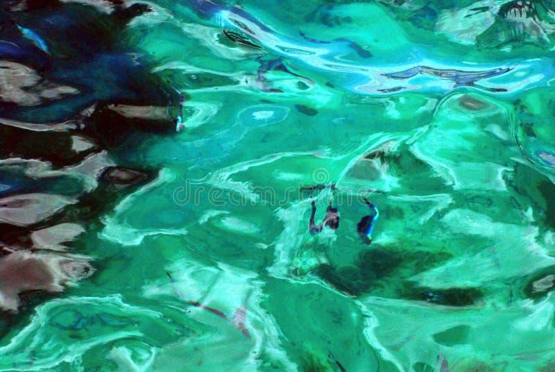 Reflexões bonitas ABSTRATAS de Aqua Water em Austrália fotografia de stock royalty free