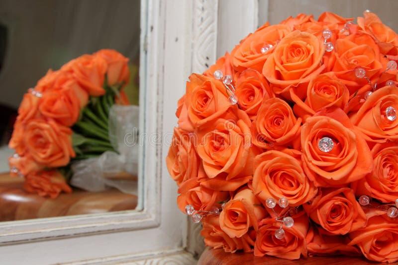 Reflexões da flor foto de stock