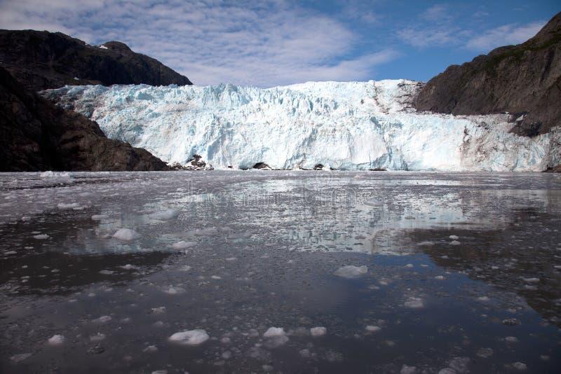 Reflexões da geleira de Holgate fotos de stock