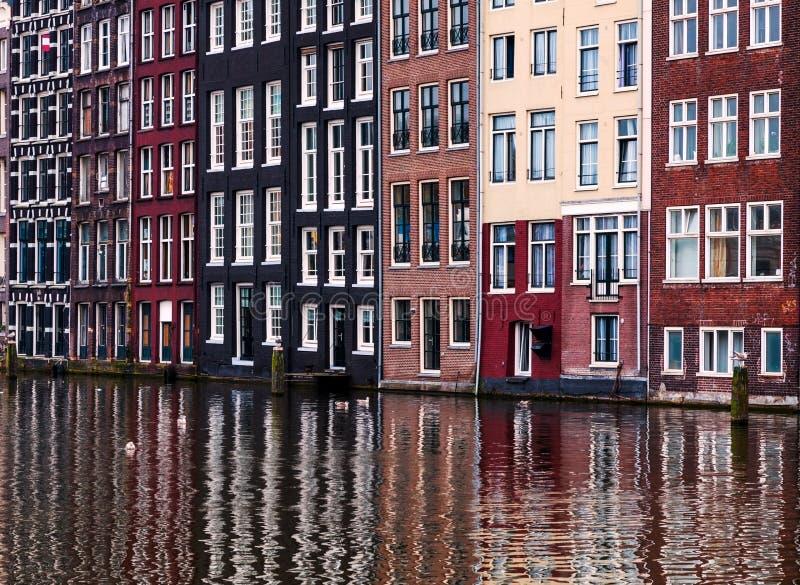 Reflexões de Amsterdão fotografia de stock royalty free