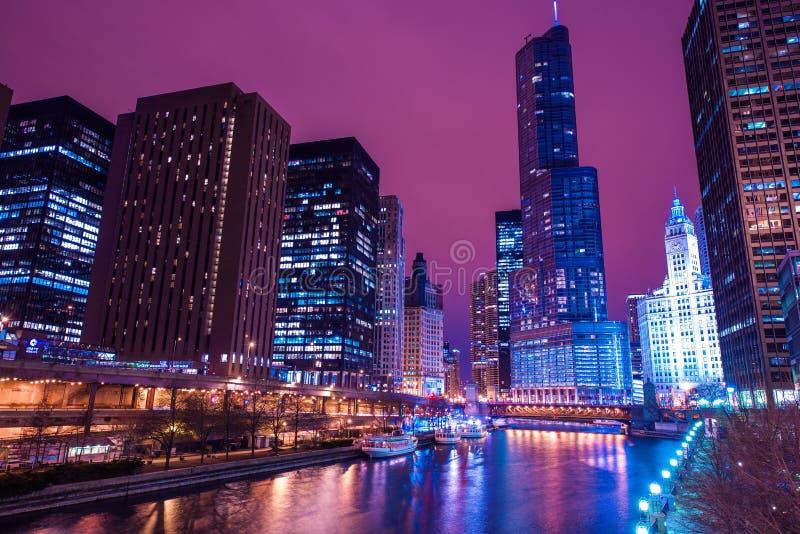 Reflexões de Chicago fotografia de stock royalty free