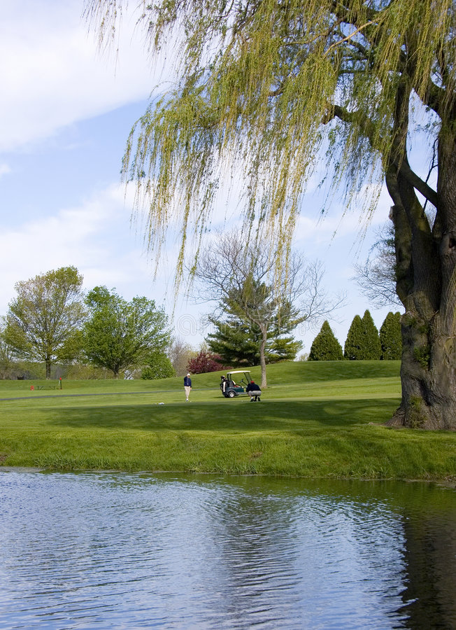 Reflexões do campo de golfe foto de stock royalty free