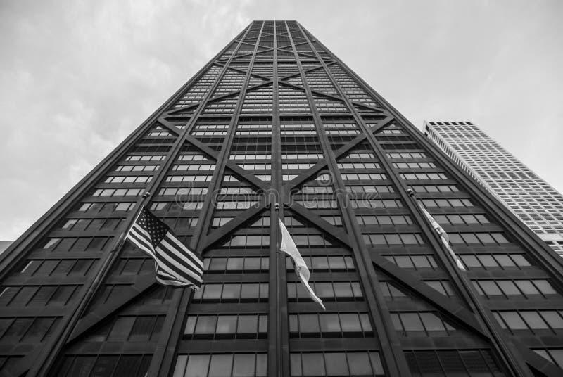 Reflexões do edifício de John Hancock imagens de stock royalty free