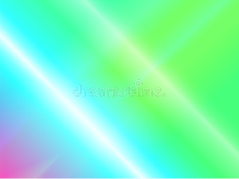 Reflexões do fulgor do arco-íris de luz Dispersão e reflexão holográficas no vidro ilustração do vetor
