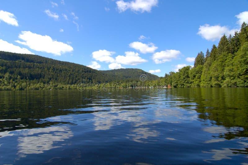 Reflexões do lago fotografia de stock