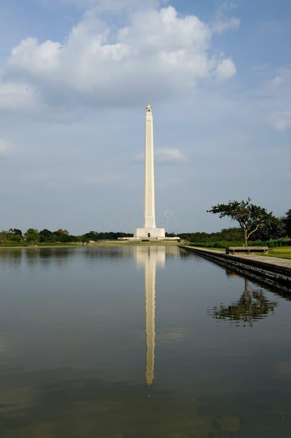 Reflexões do monumento de San Jacinto foto de stock royalty free