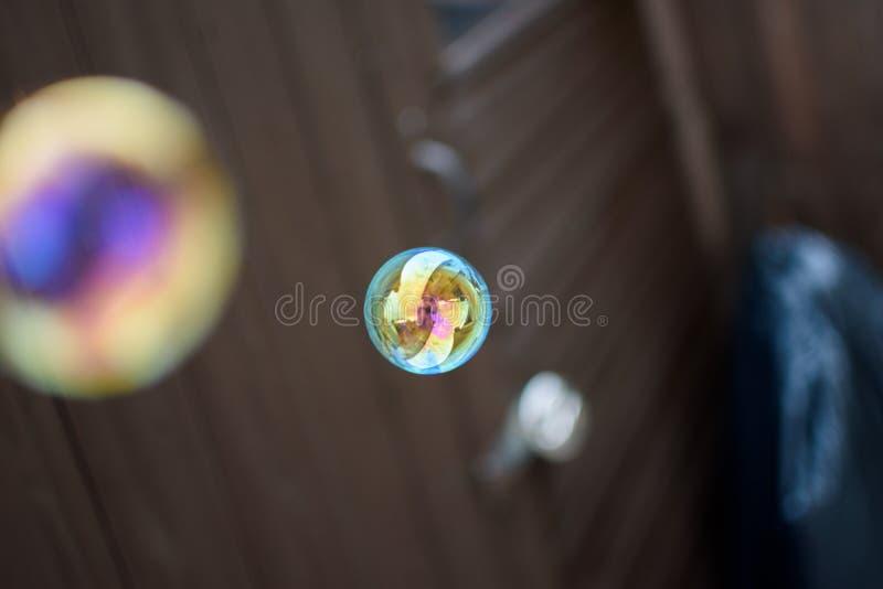 Reflexões na bolha imagem de stock