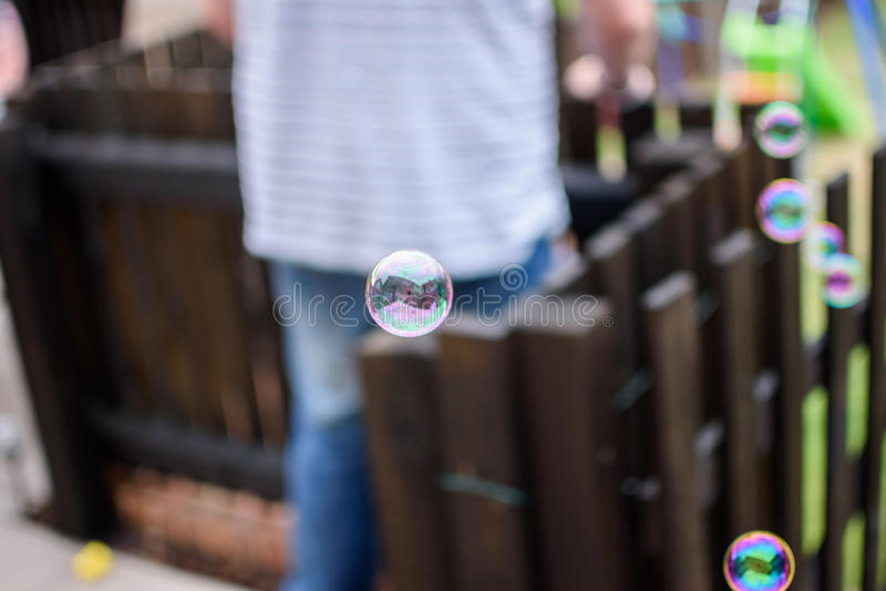 Reflexões na bolha imagens de stock