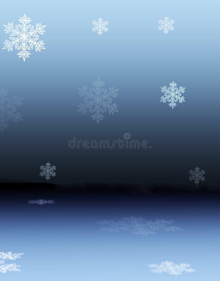 Reflexões nevado ilustração stock