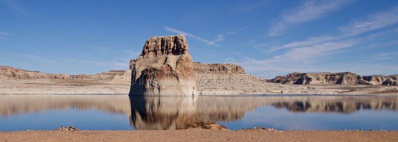 Reflexões no lago Powell, Utá, EUA imagens de stock royalty free