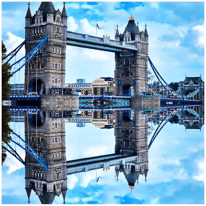Reflexões no rio foto de stock