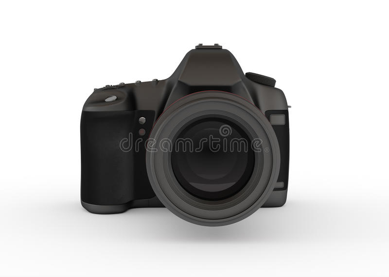Download Reflex Digital Camera, Front View Stock Photo - Image: 26720610