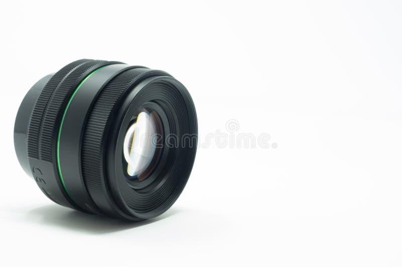 Reflex DSLR camera prime lens stock photo