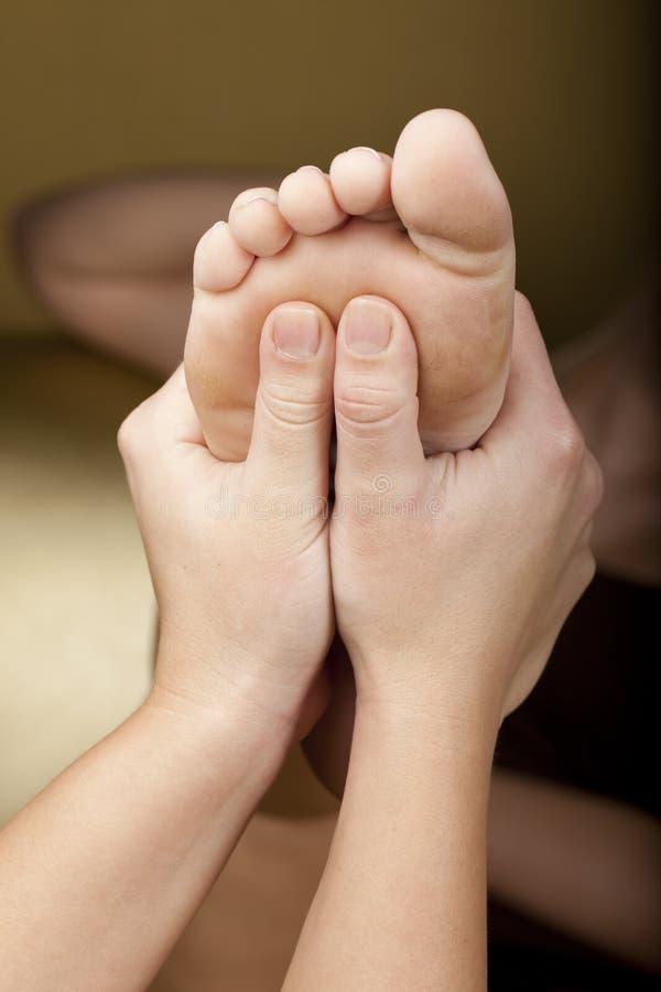 Reflex masage in een centrum van het KUUROORD royalty-vrije stock afbeelding