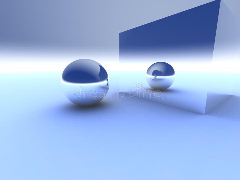 Reflexión ilustración del vector