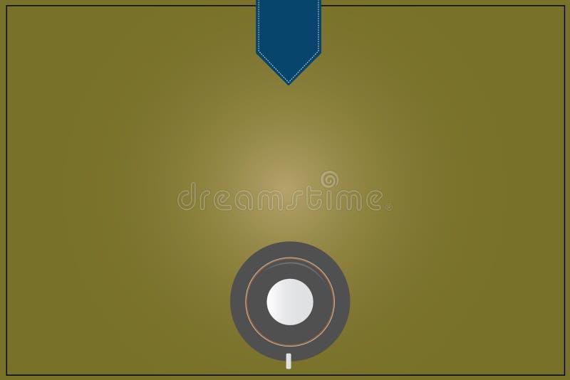 Reflexión abstracta moderna del vector de la opinión superior del platillo de la taza de café del fondo del espacio vacío de la c libre illustration