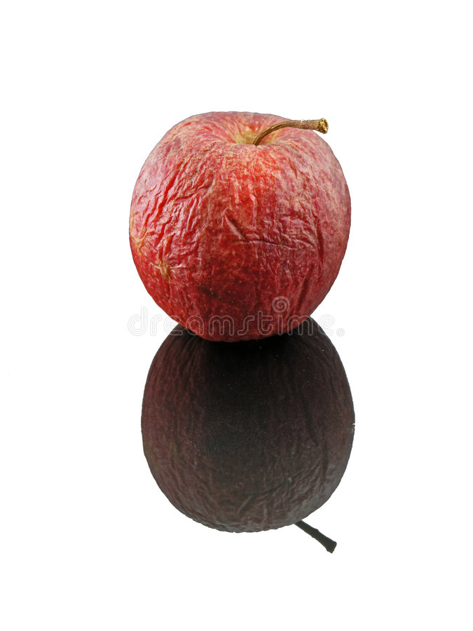 Reflexión De Apple Aislada Imágenes de archivo libres de regalías