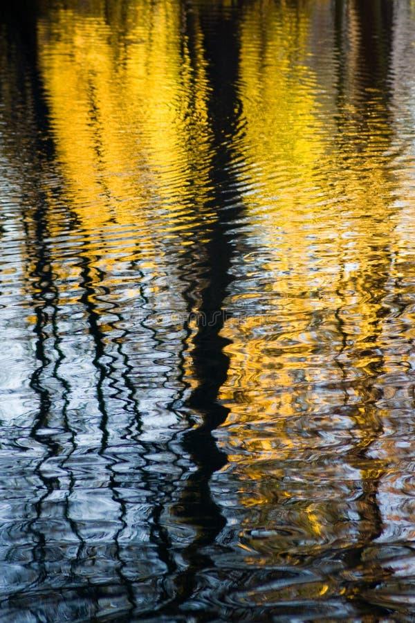 Reflexión de Autum en agua imagenes de archivo