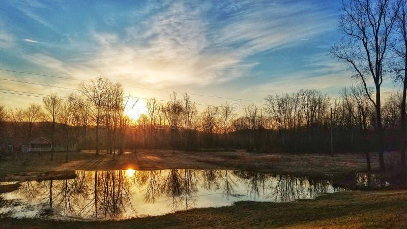 Reflexión de la mañana fotografía de archivo libre de regalías