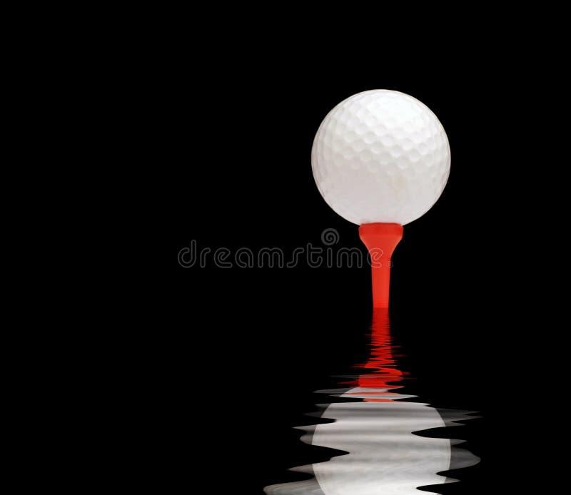 Reflexión de la pelota de golf ilustración del vector