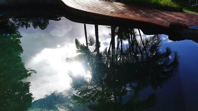 Reflexión de la piscina fotos de archivo libres de regalías