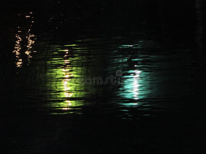 Reflexión de medianoche imagenes de archivo