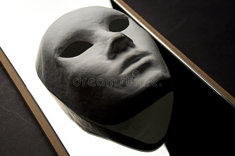 Reflexión de teatro de la máscara imagenes de archivo