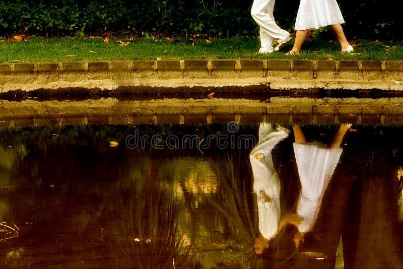 Reflexión del amor imagen de archivo libre de regalías