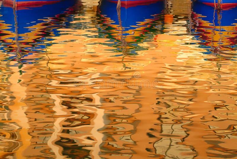 Reflexión del barco fotos de archivo
