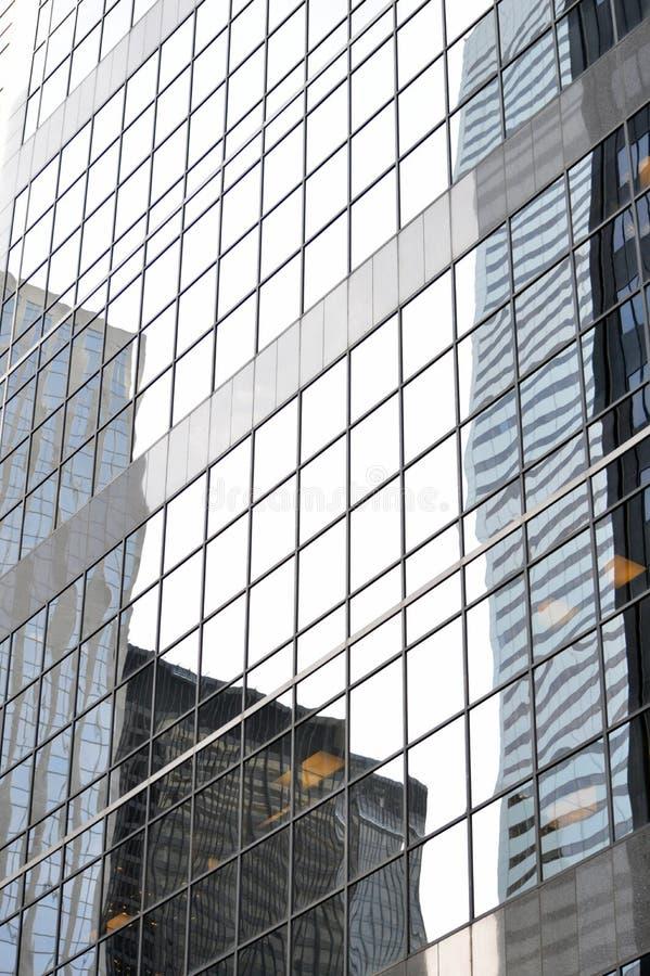 Reflexión del distrito financiero imagen de archivo libre de regalías