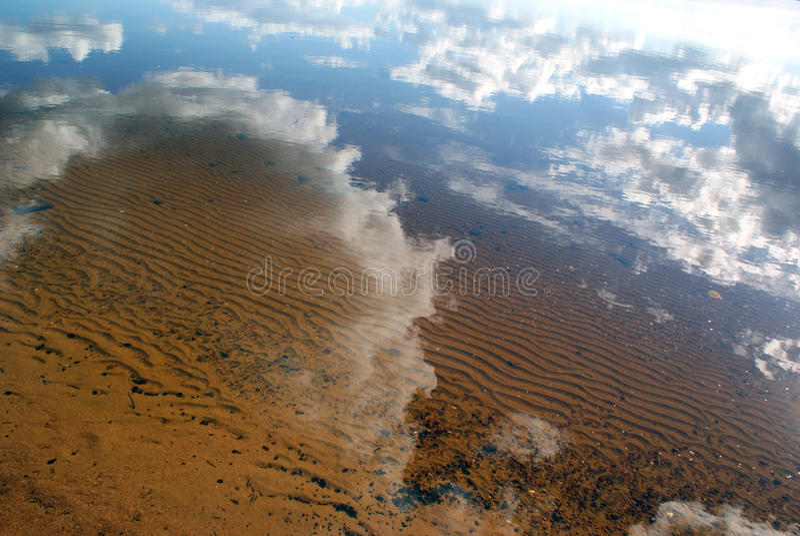 Reflexión en agua fotos de archivo