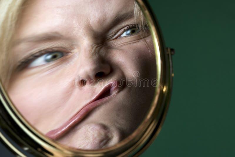 Reflexión en un espejo fotos de archivo libres de regalías