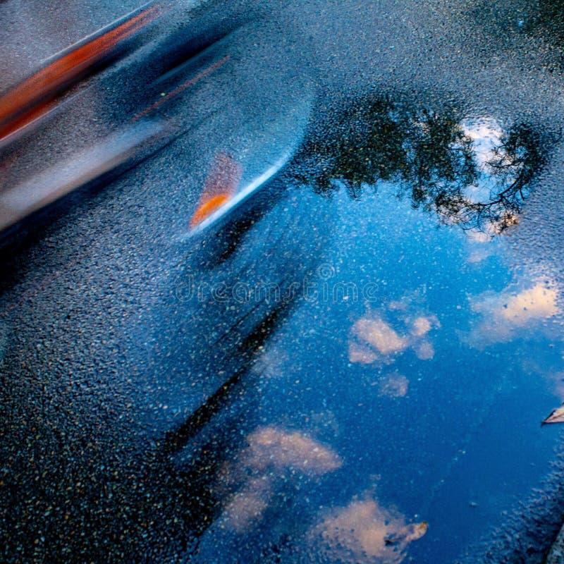 Reflexión suave de la nube imagenes de archivo