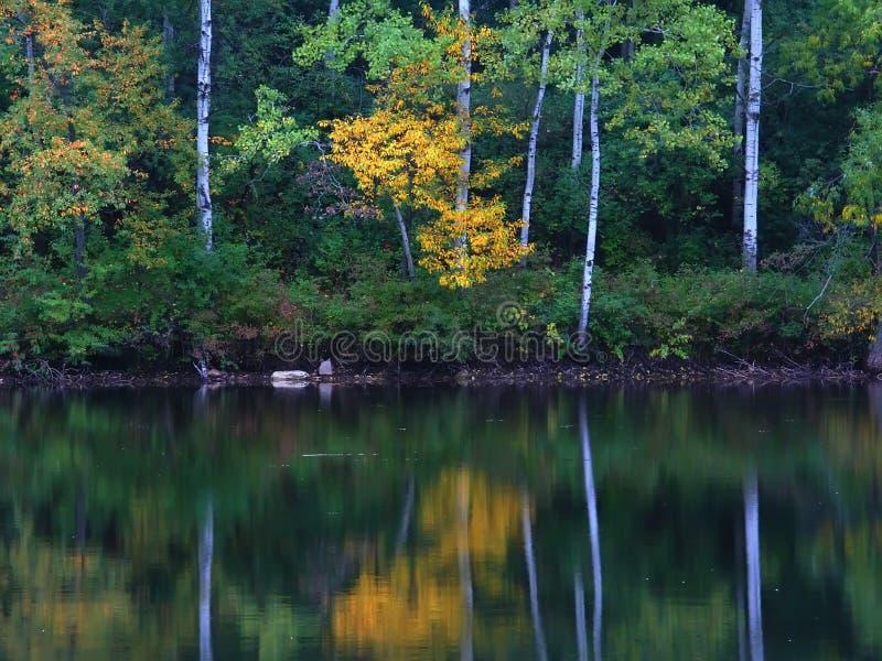 Reflexión Wisconsin del lago moraine de la caldera imágenes de archivo libres de regalías