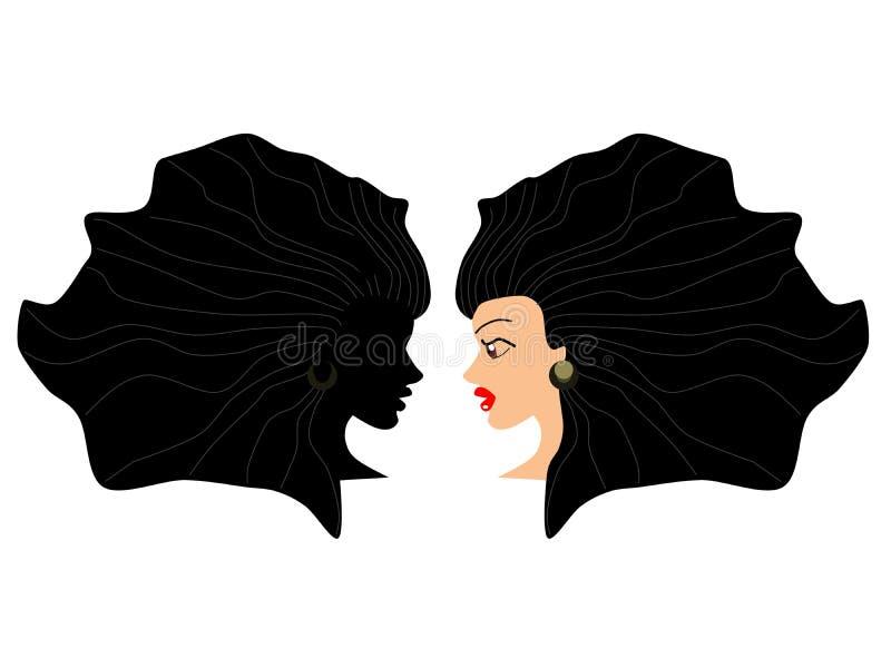 Reflexion royaltyfri illustrationer