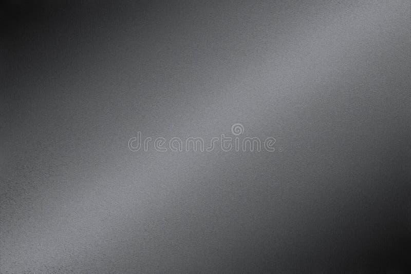 Reflexion av svart stål, texturbakgrund arkivbilder
