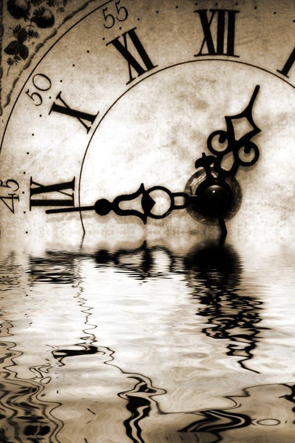 Reflexion der Zeit stockbilder
