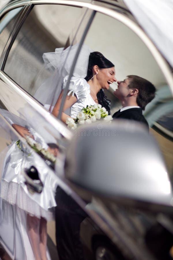 Reflexion in einem Auto lizenzfreie stockfotos