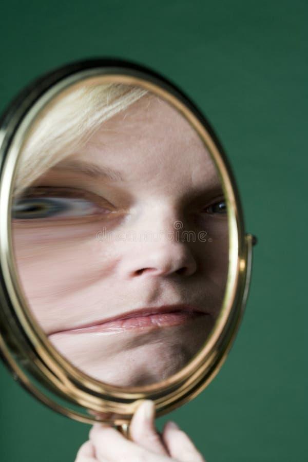 Reflexion in einem Spiegel stockfoto