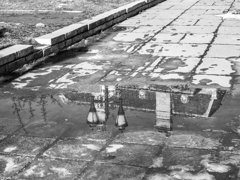 Reflexion för detaljer för medborgareArt Gallery tak på en snöpölyttersida, Sofia Bulgaria arkivfoto