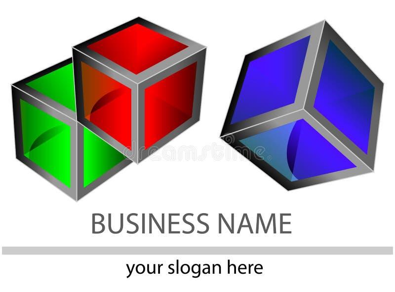 reflexion för logo 3d stock illustrationer