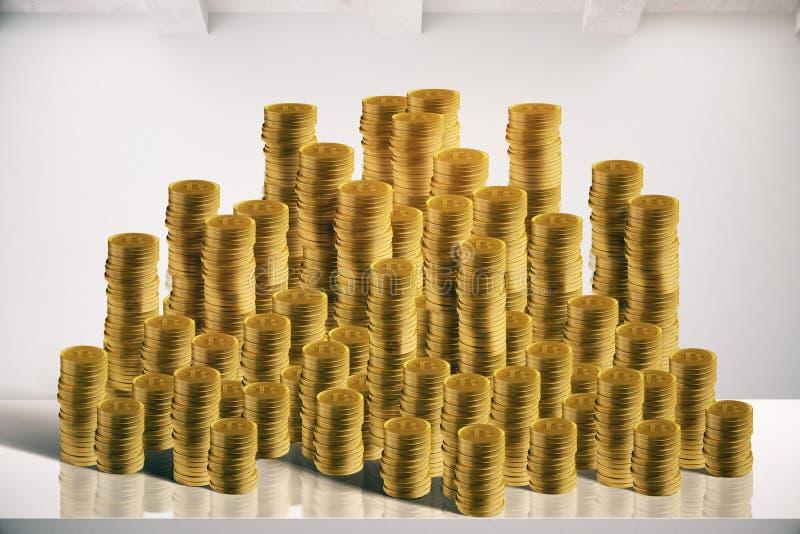 reflexion för pengar för begreppsgodshus verklig vektor illustrationer