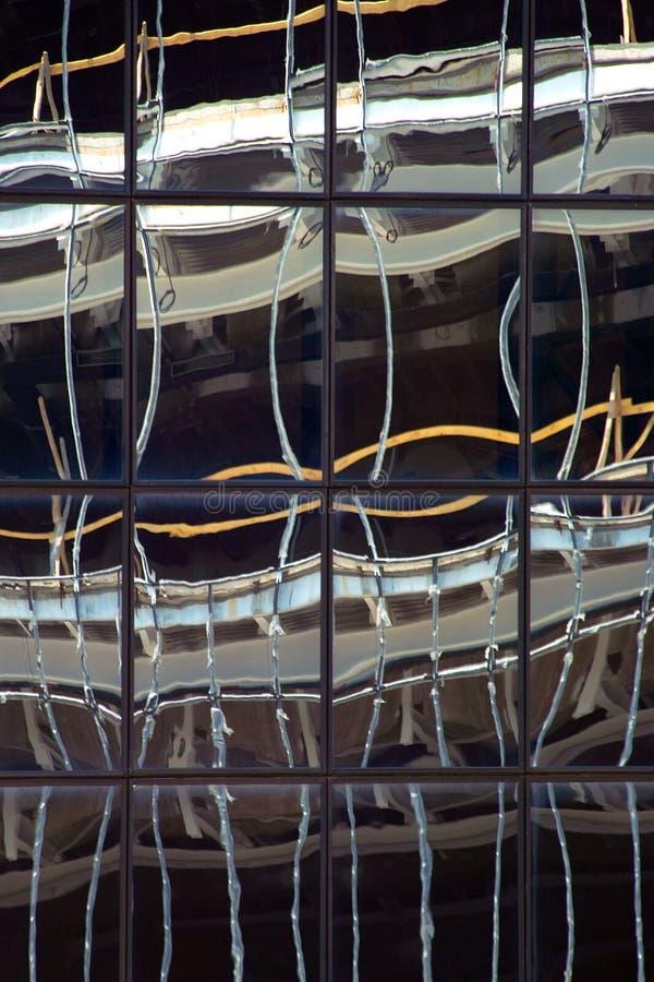 Reflexion im Glas lizenzfreies stockfoto