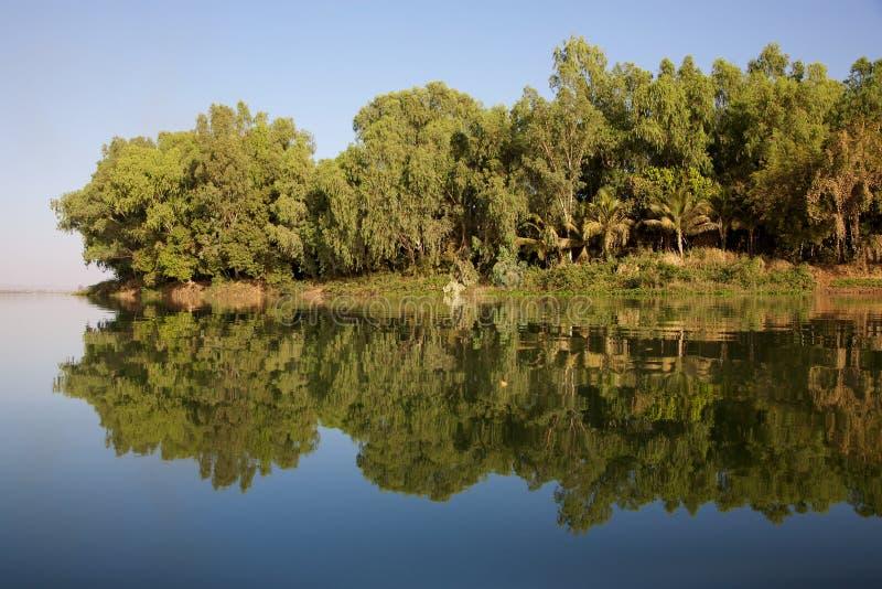 Reflexionen im Fluss lizenzfreie stockfotos