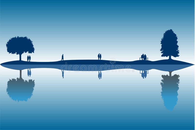 reflexioner stock illustrationer
