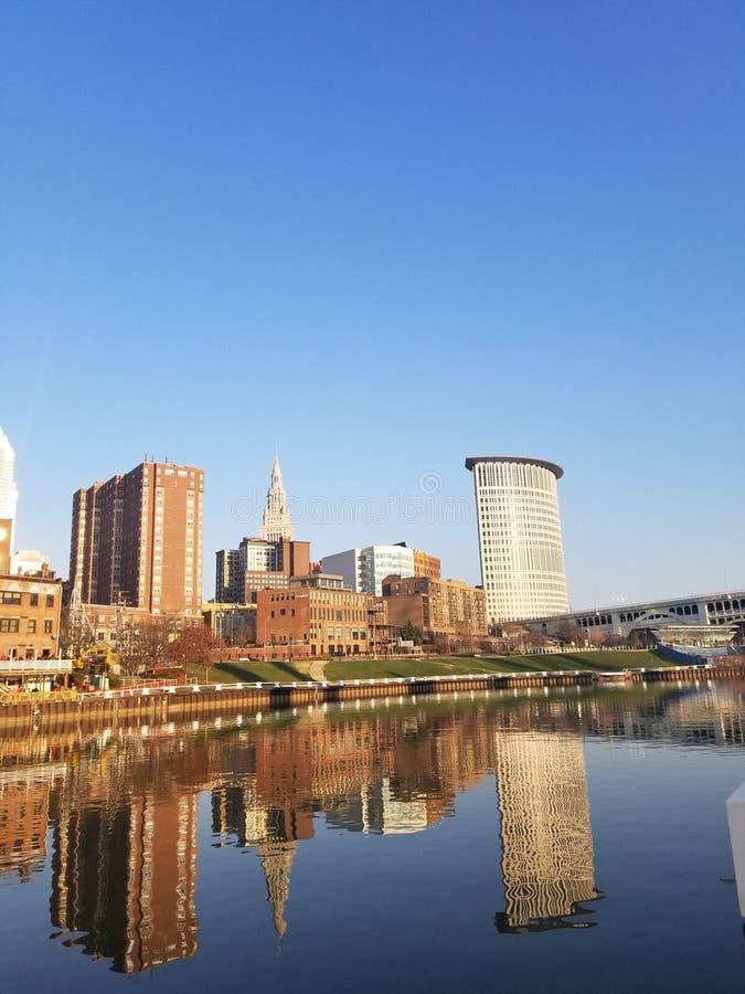 Reflexioner i Cleveland royaltyfri foto