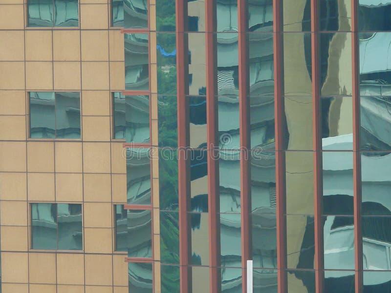 Reflexiones abstractas de edificios foto de archivo