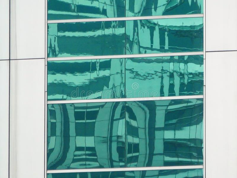 Reflexiones abstractas de edificios imágenes de archivo libres de regalías